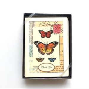 Butterfly thank you cards - 10 w/ envelopes